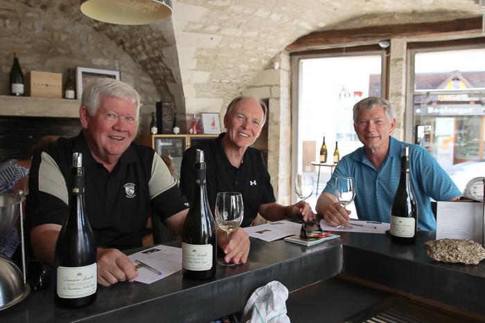guests enjoying wine tasting in Beaune