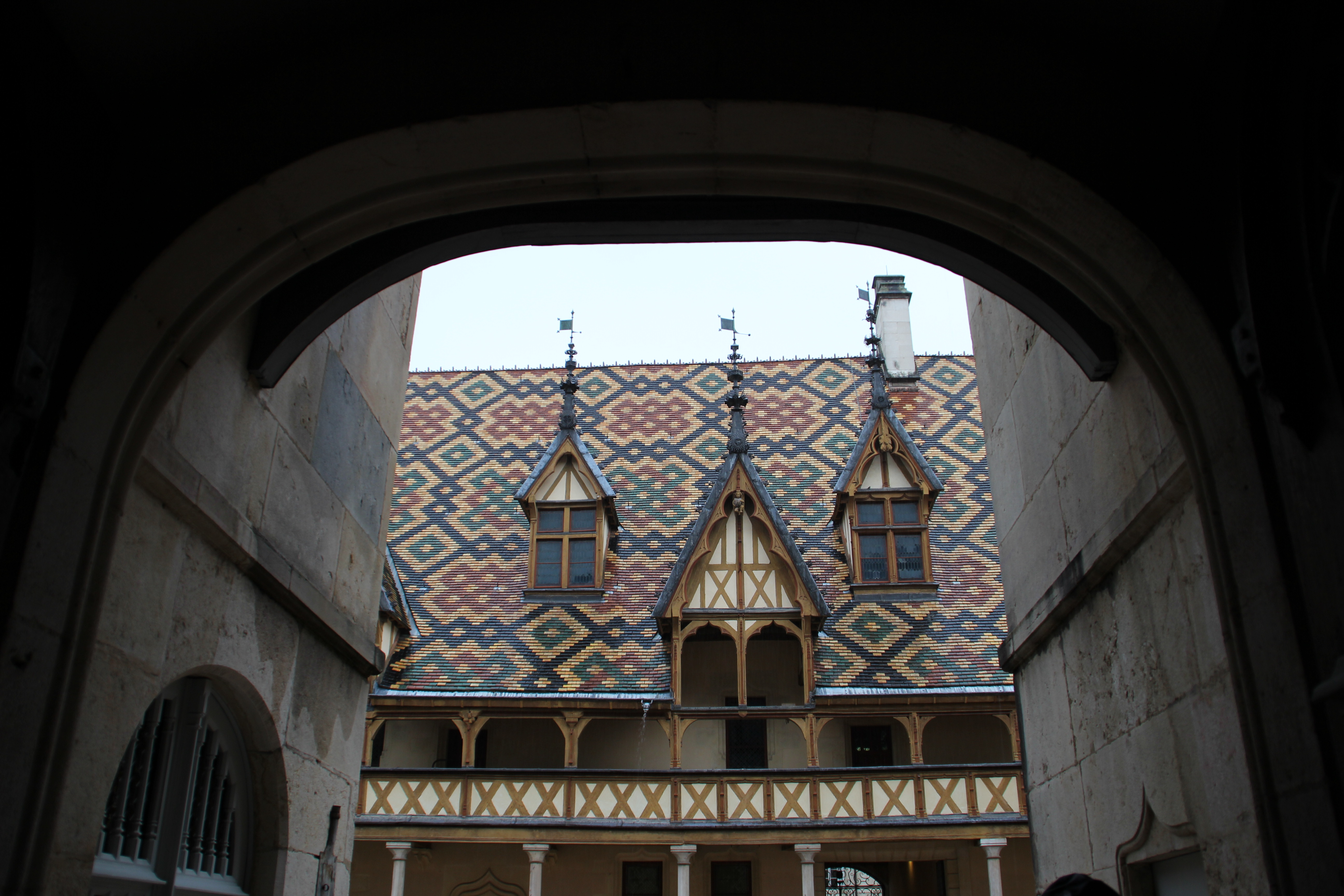Inside view of hospice to beaune