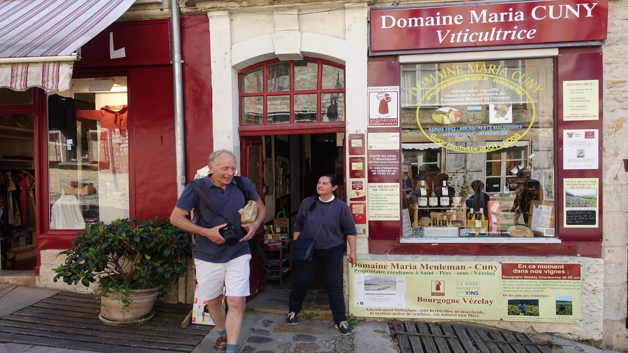 Nick buying wine during wine tour