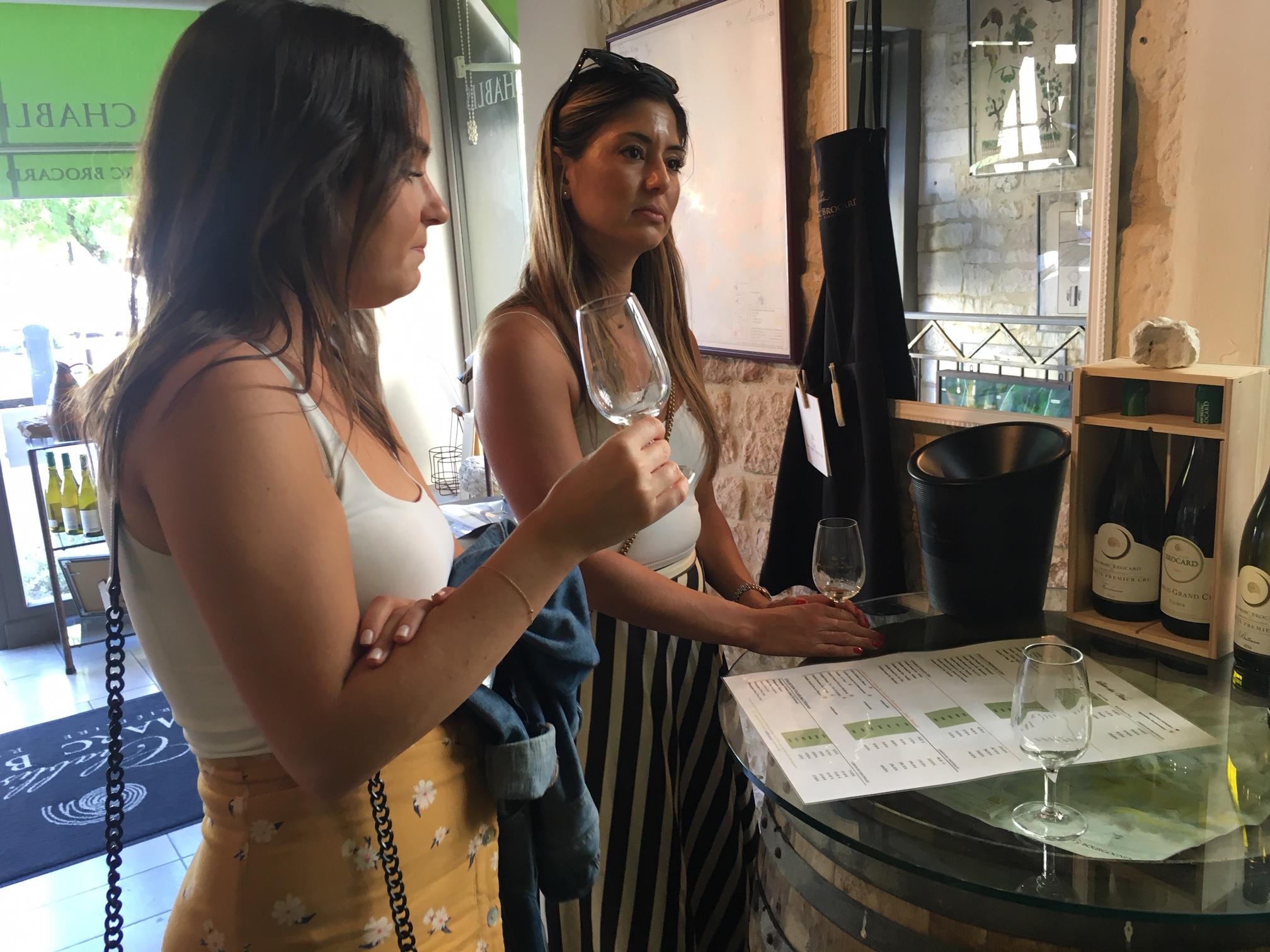 guests tasting wine in burgundy