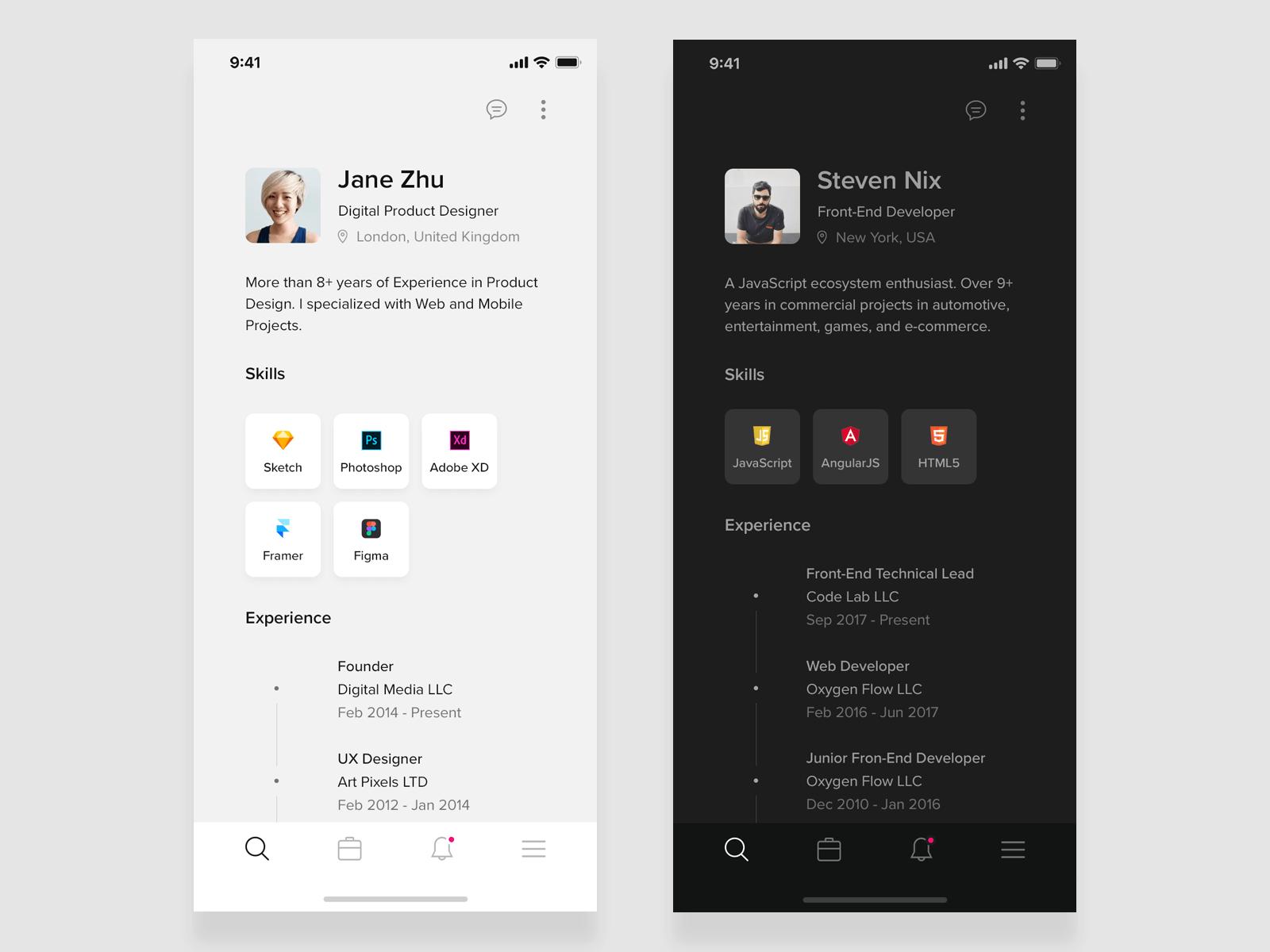 Resume mobile app