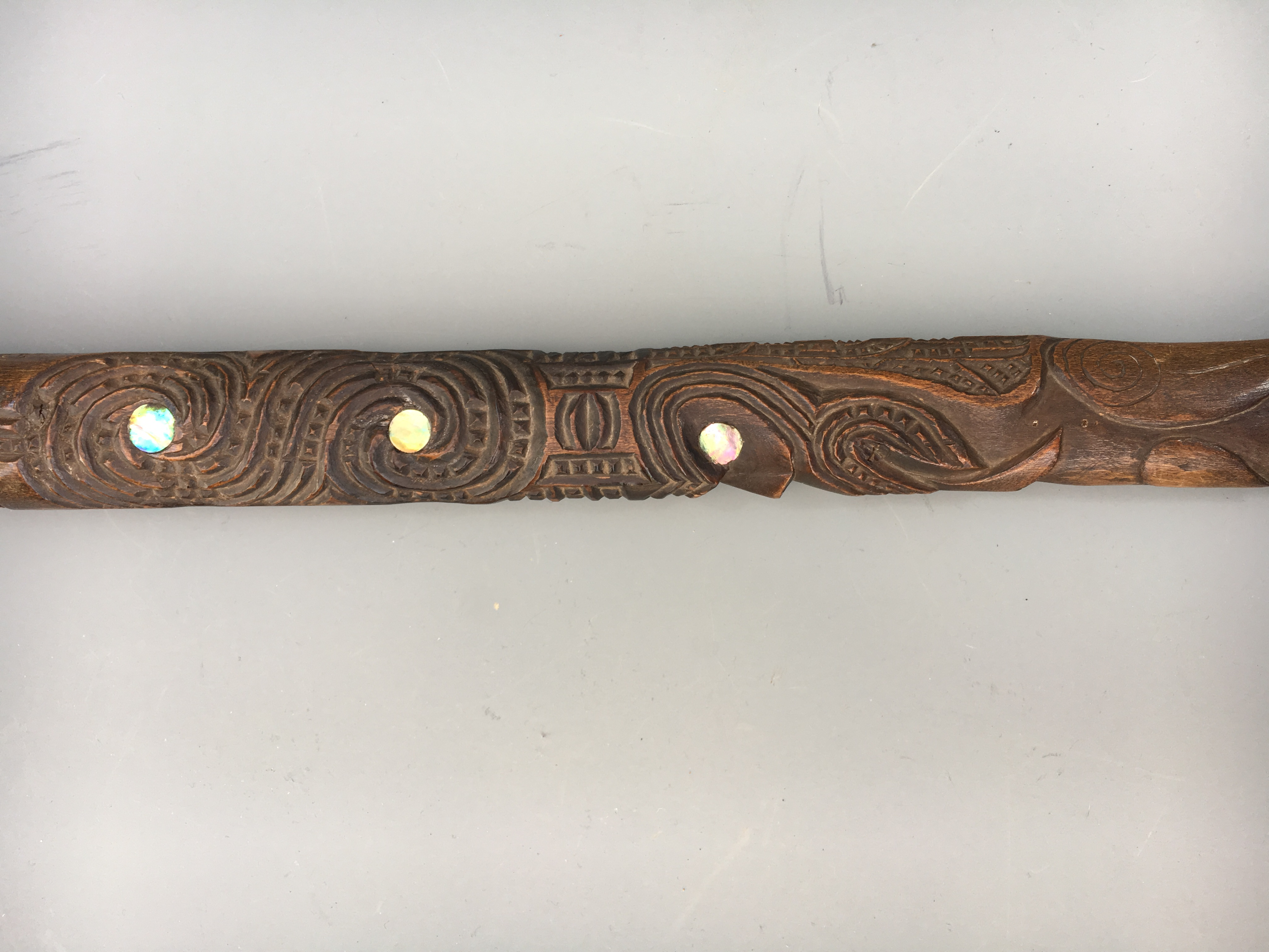 An Unusual Maori Speakers Staff New Zealand North Island