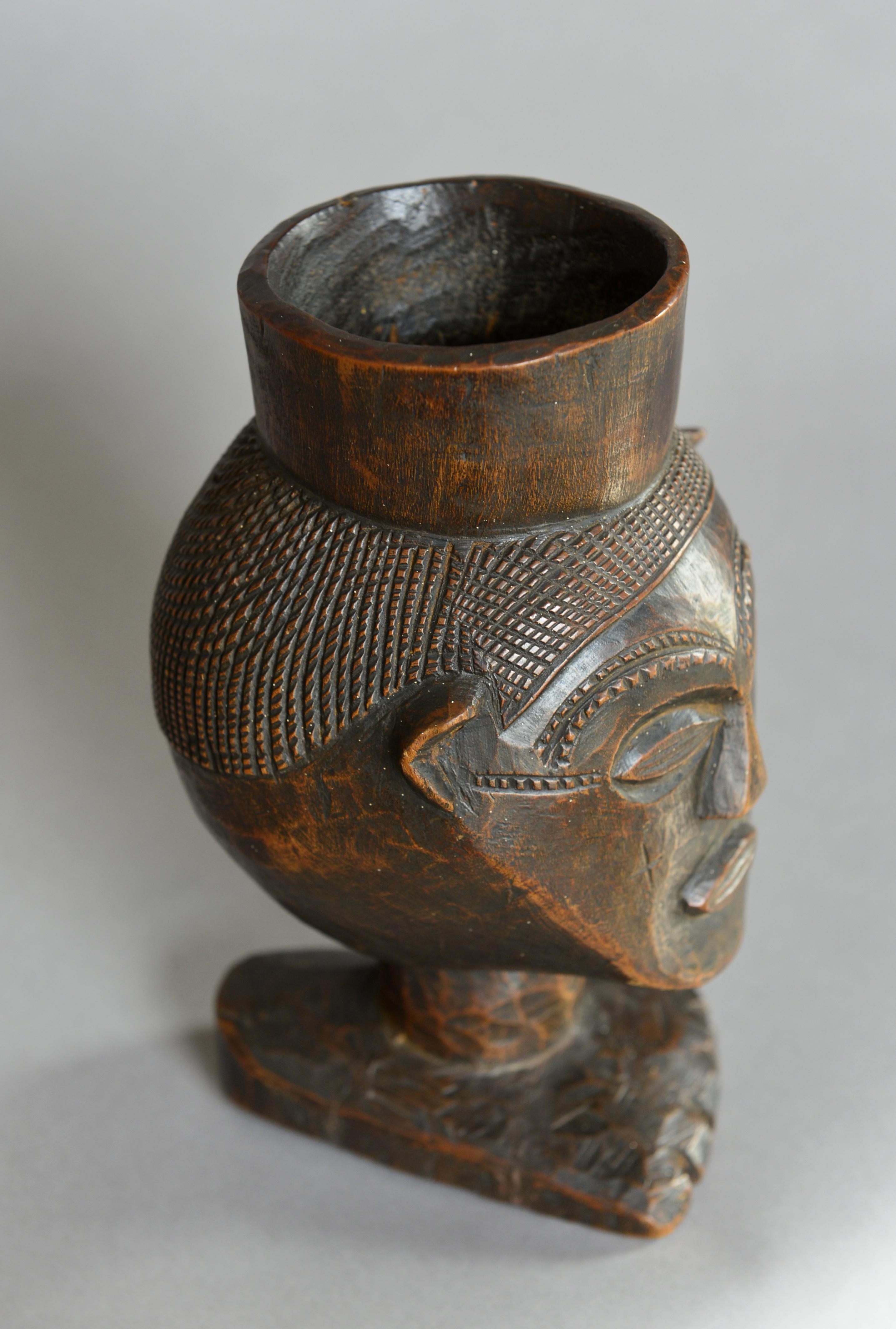 A large Kuba palmwine cup
