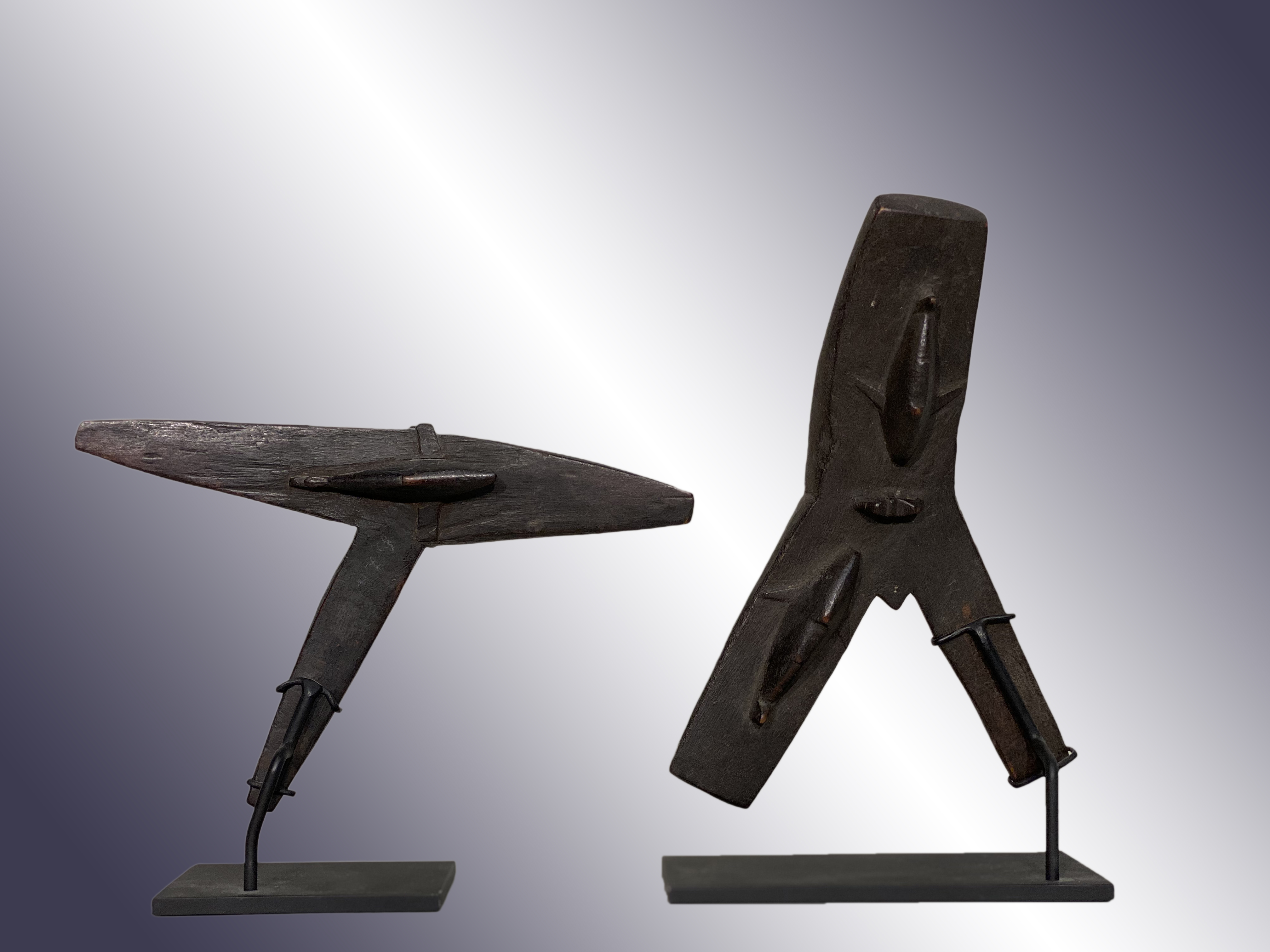 Two Santa Cruz Wooden Stretchers