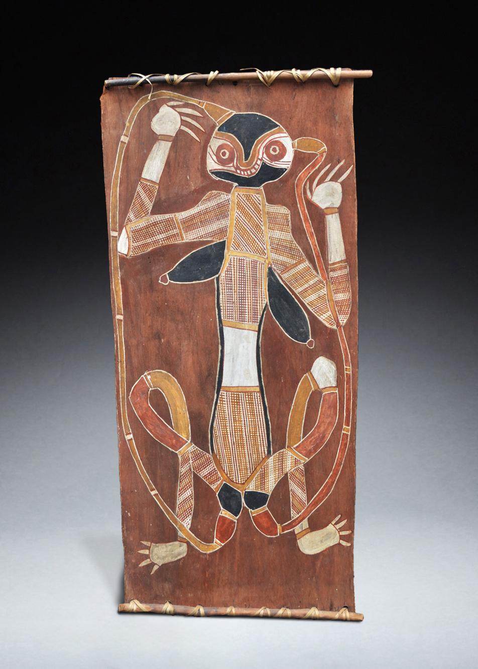 Bark Painting by George Djaykurrnga (1930-1987)