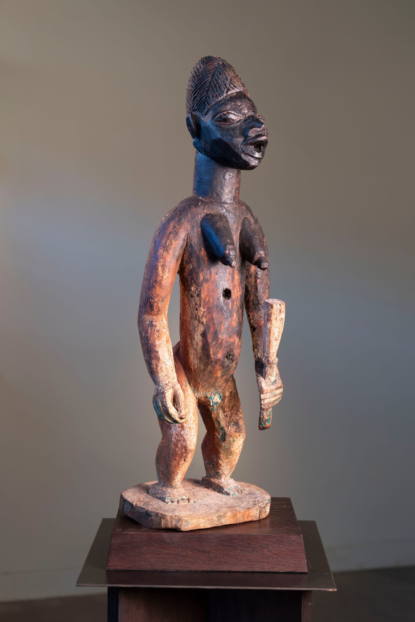 27. Shrine Figure With 'Sweating' Oily Patina