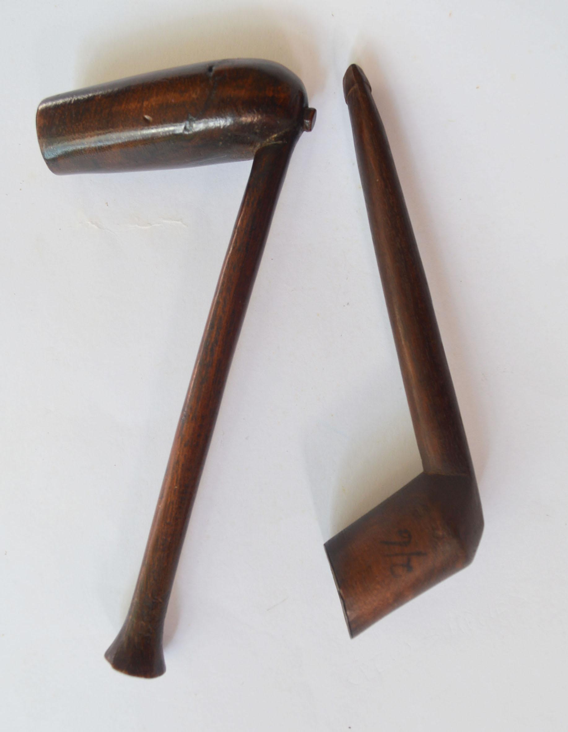 Zulu Xhosa Wood smoking pipes