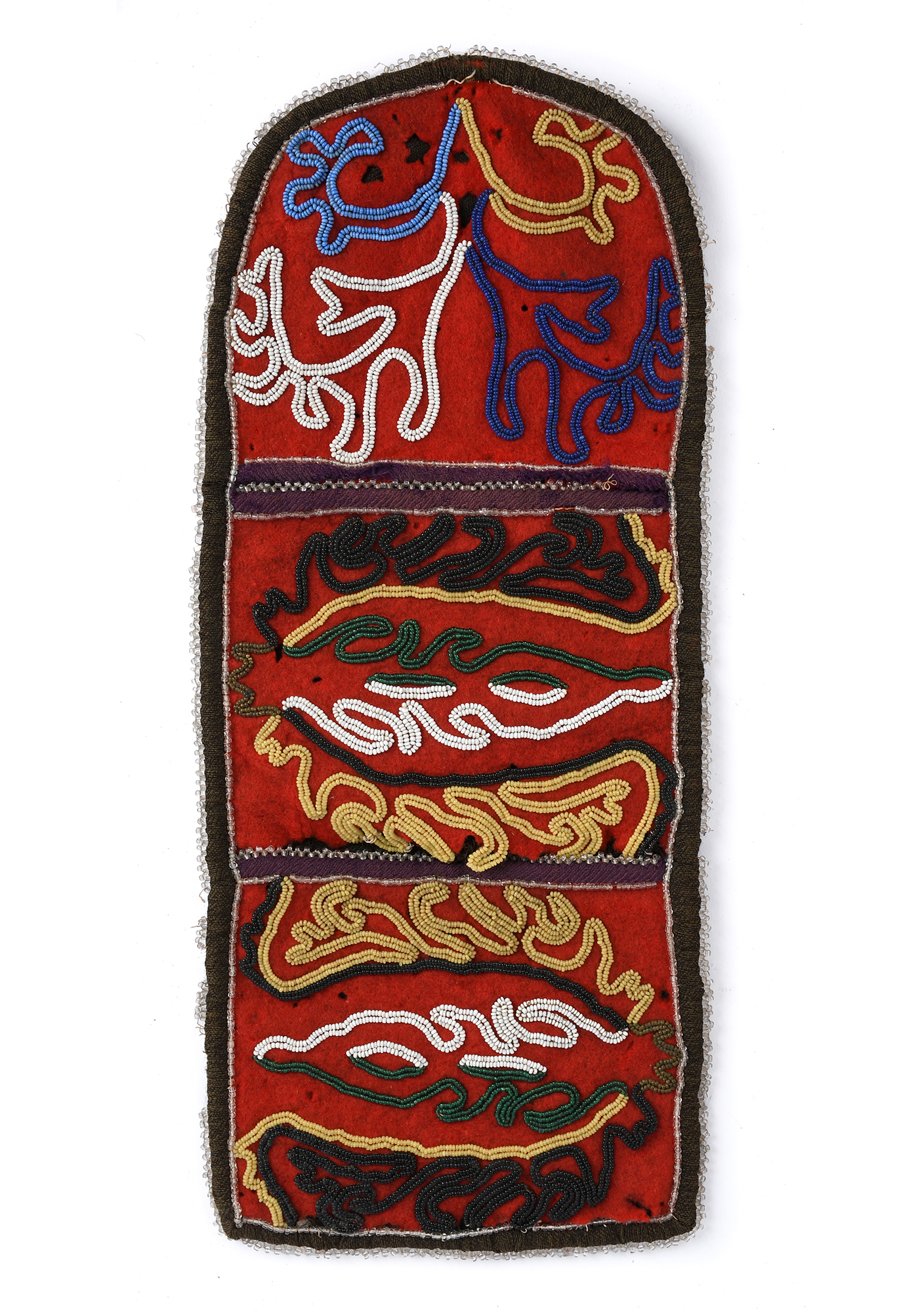 Native American Tlingit Beaded wall pocket