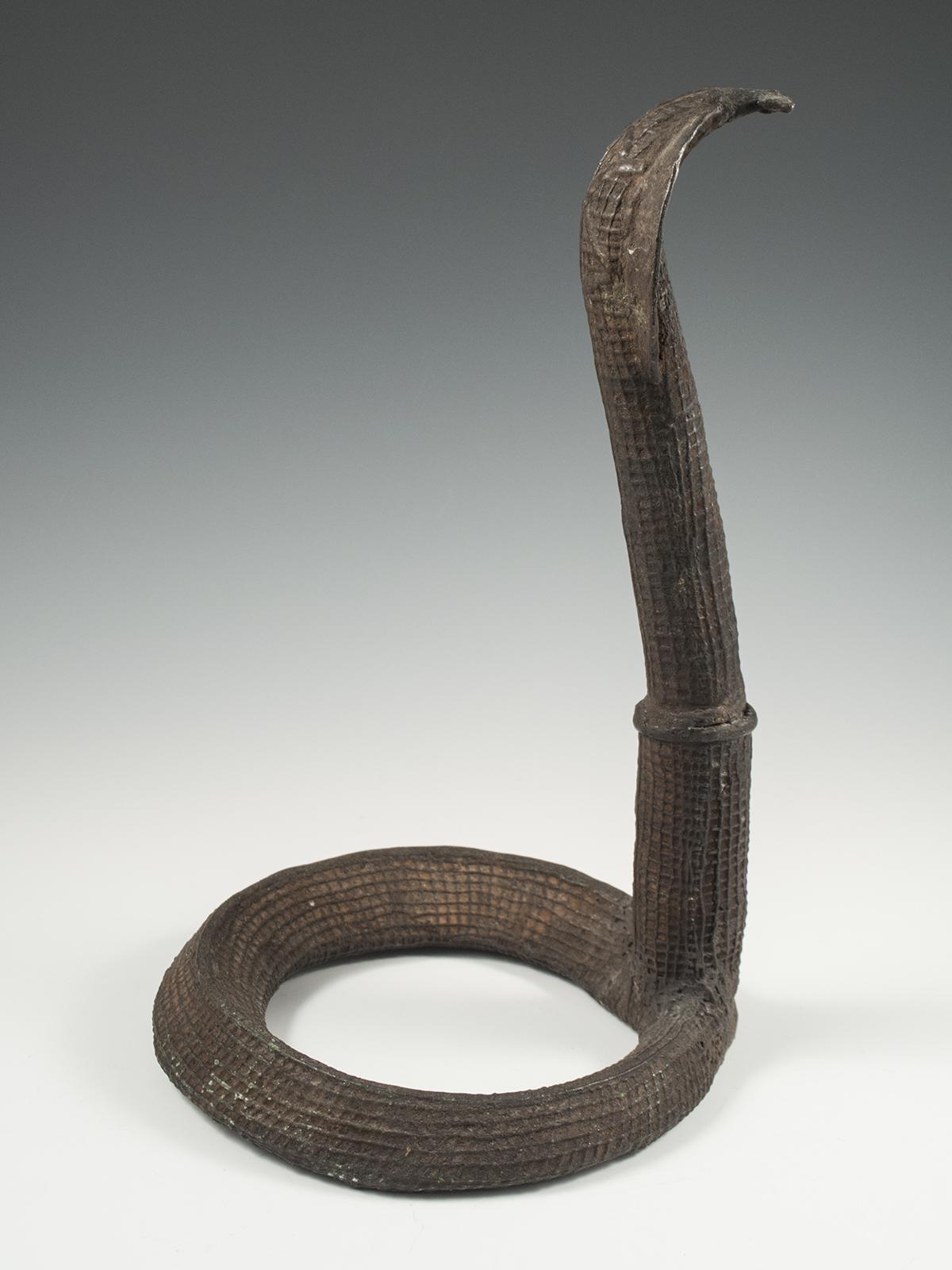 Cast Bronze Cobra