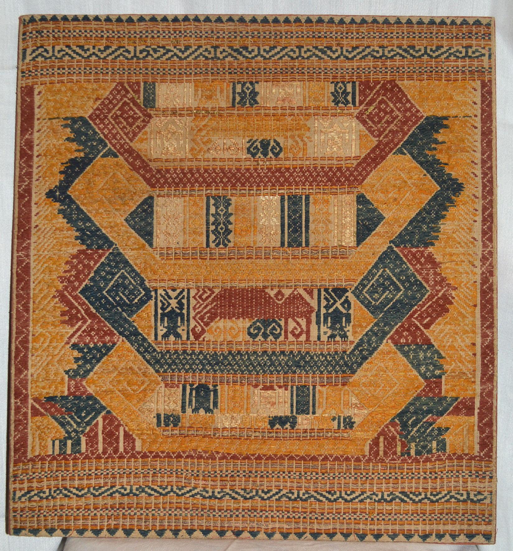 Tampan Textile panel Lampung Sumatra