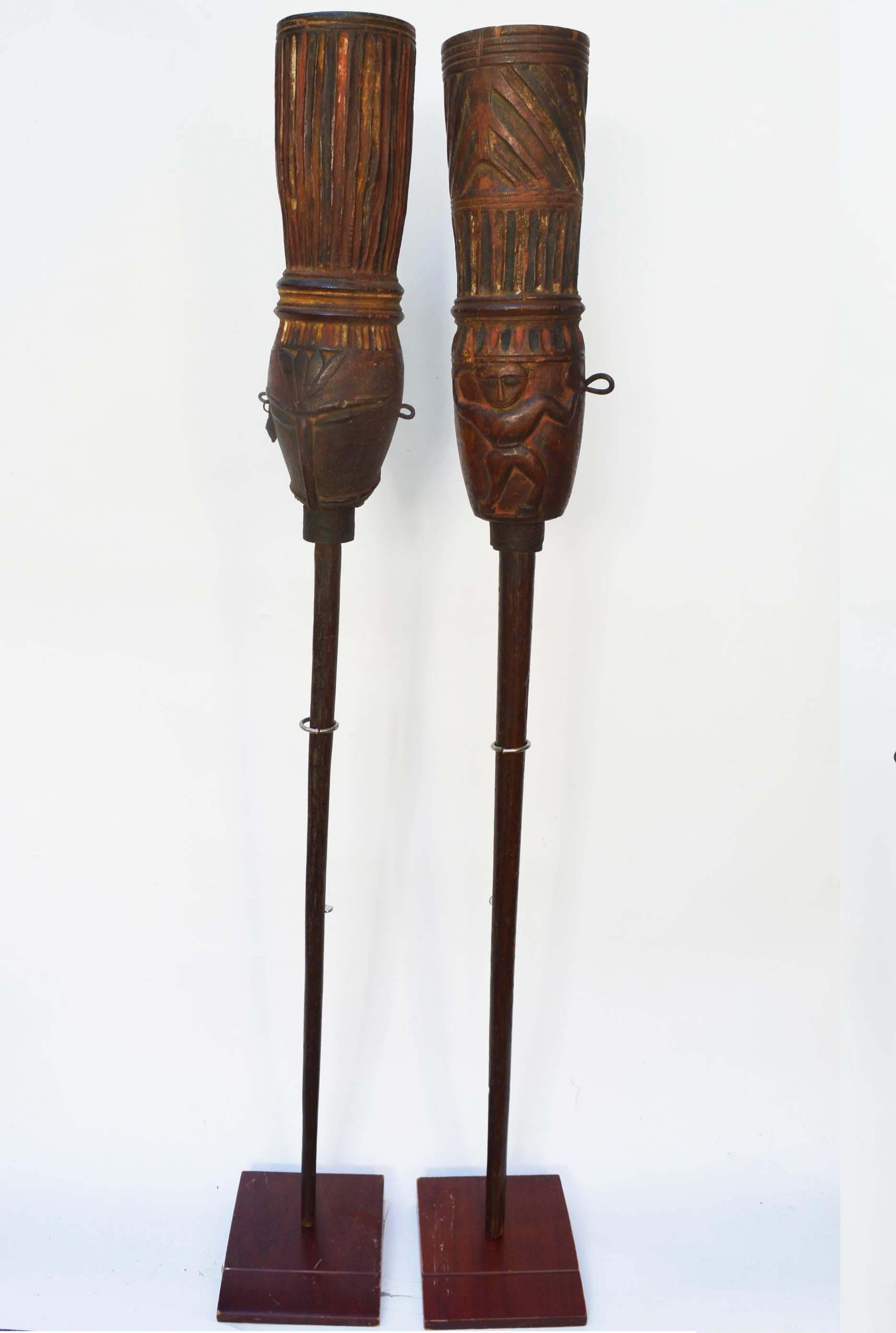 Fhagli festival ceremonial poles