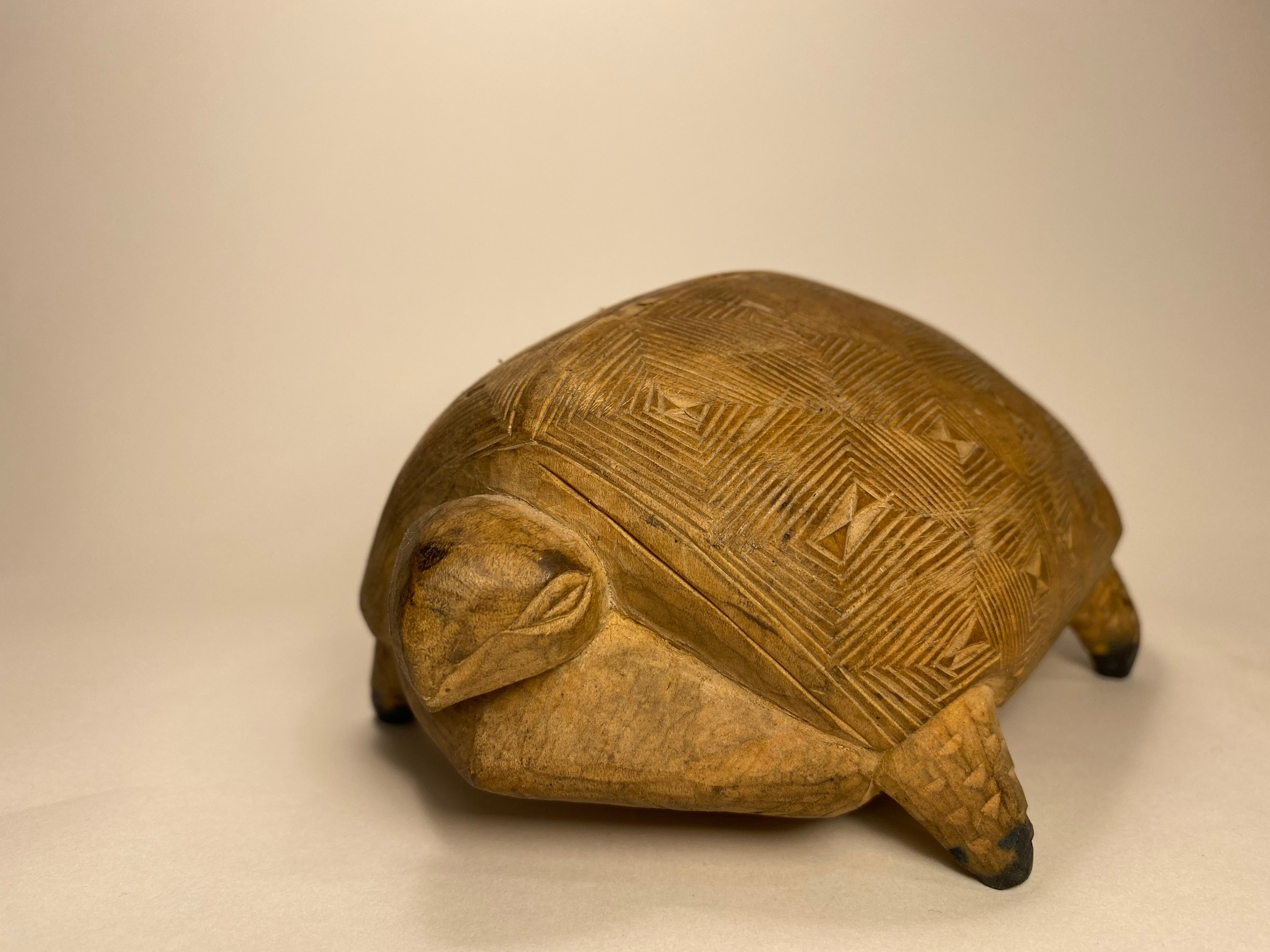 Carved Wooden Tortoise
