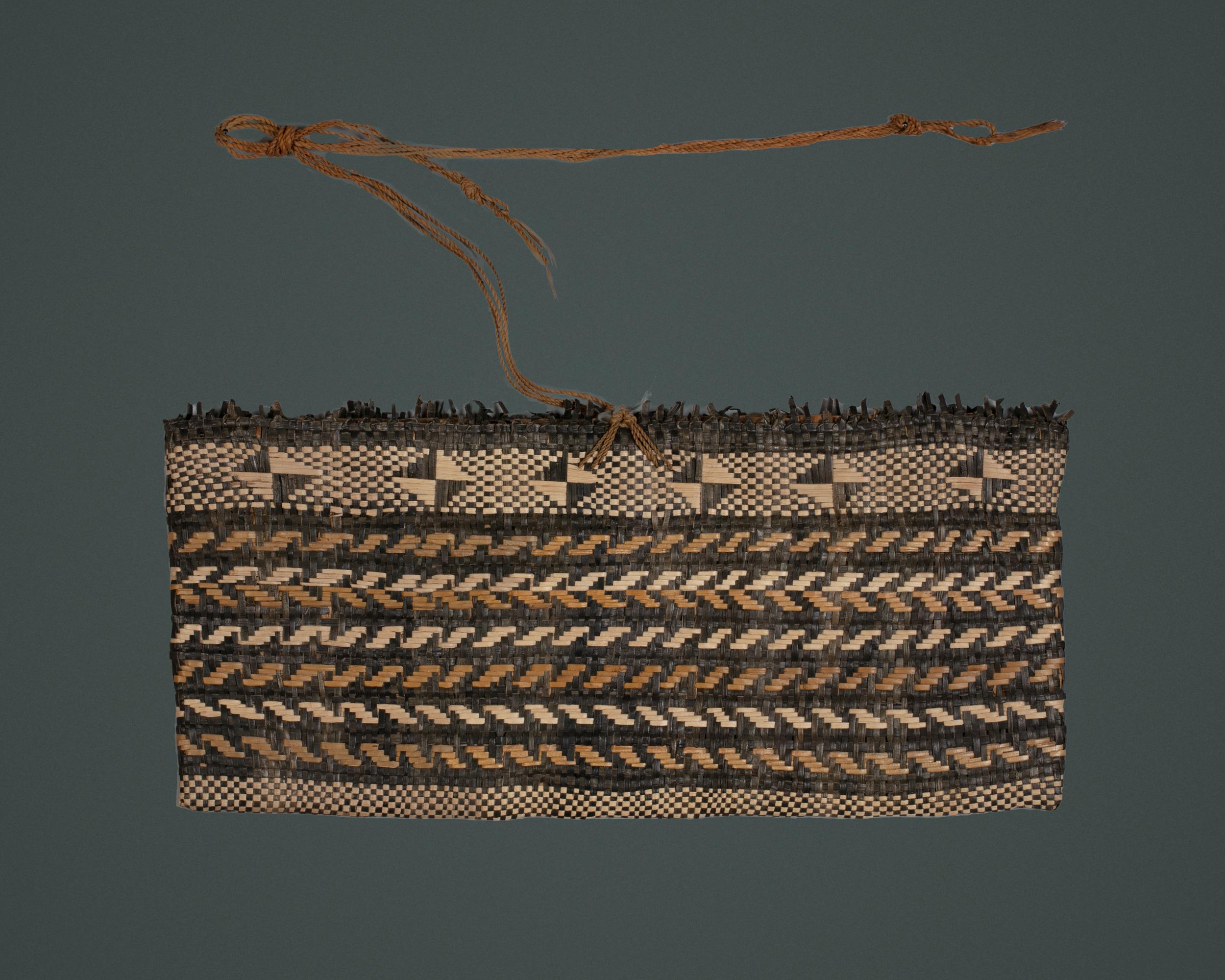 A Rubu, a Flat Basketry Bag