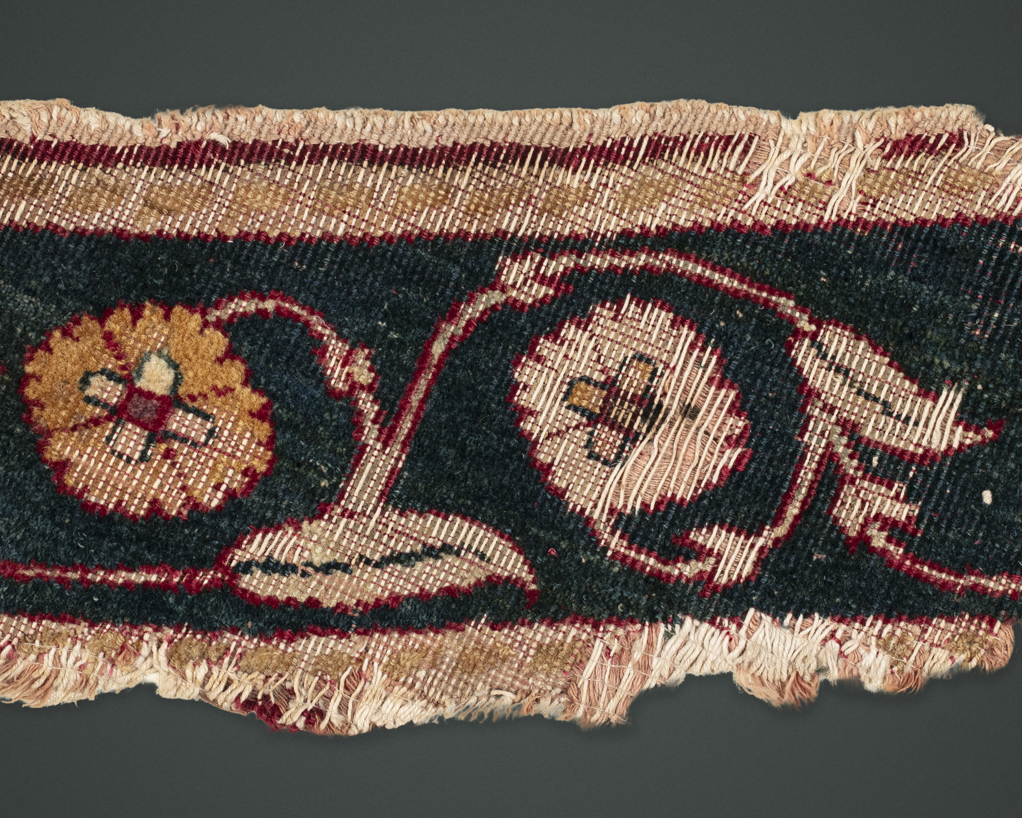 A Mughal Carpet Border Fragment
