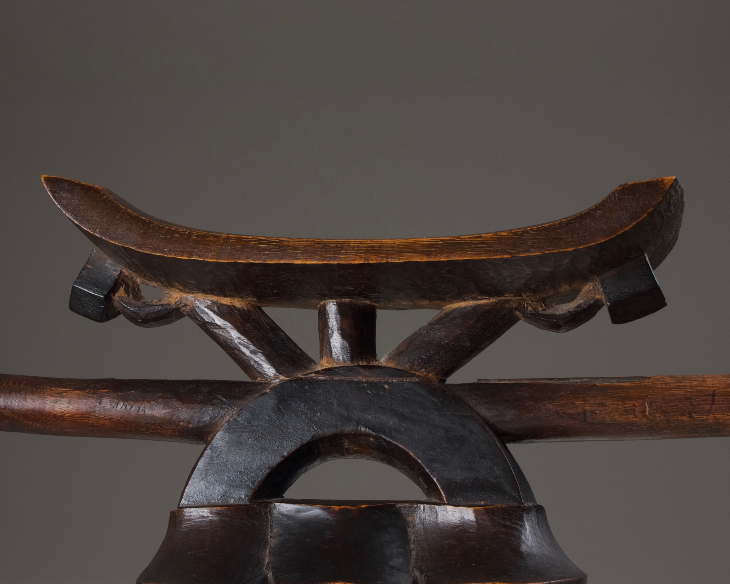A Headrest Staff with Spoon