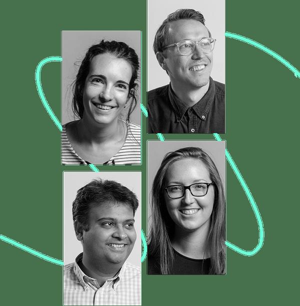 11:FS team members - Laura Watkins, Will Jones, Nasir Ahmad, Kate Moody