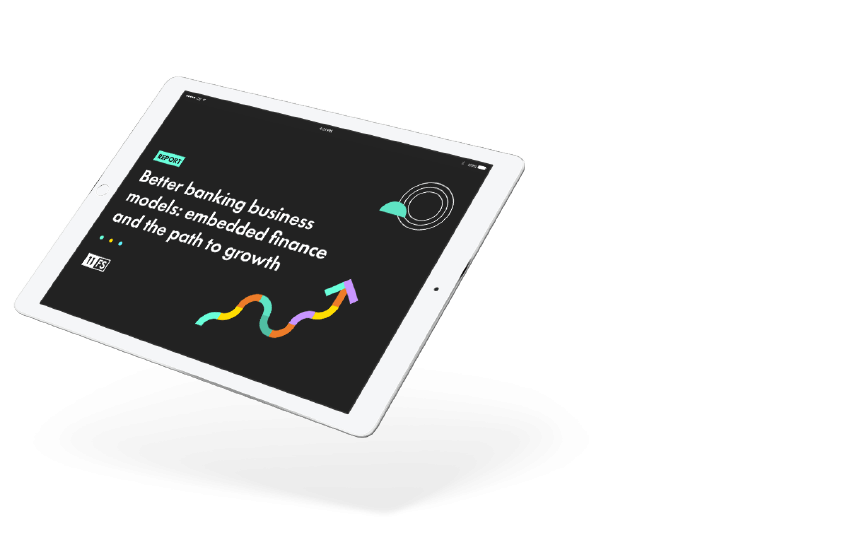 Banking as a Service report on tablet