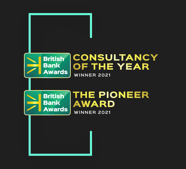 11:FS award for Best Consultancy of the Year and Pioneer Award 2021 at British Bank Awards