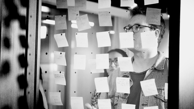 Workshop with post-it notes