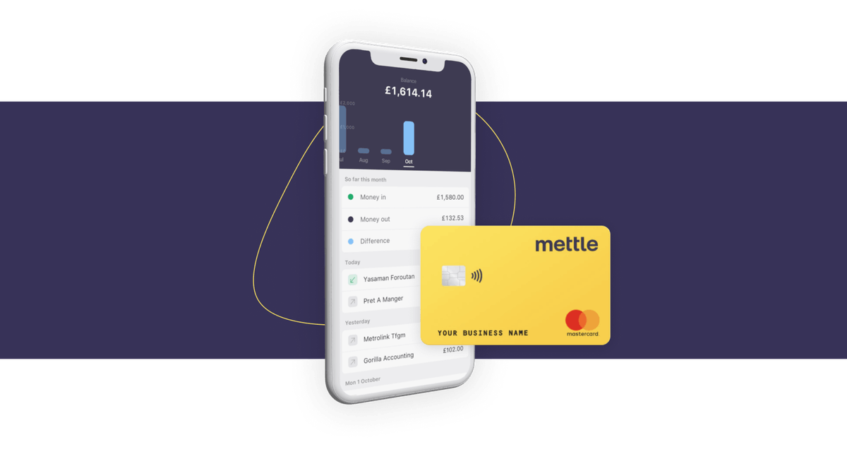 Mettle mobile app and card