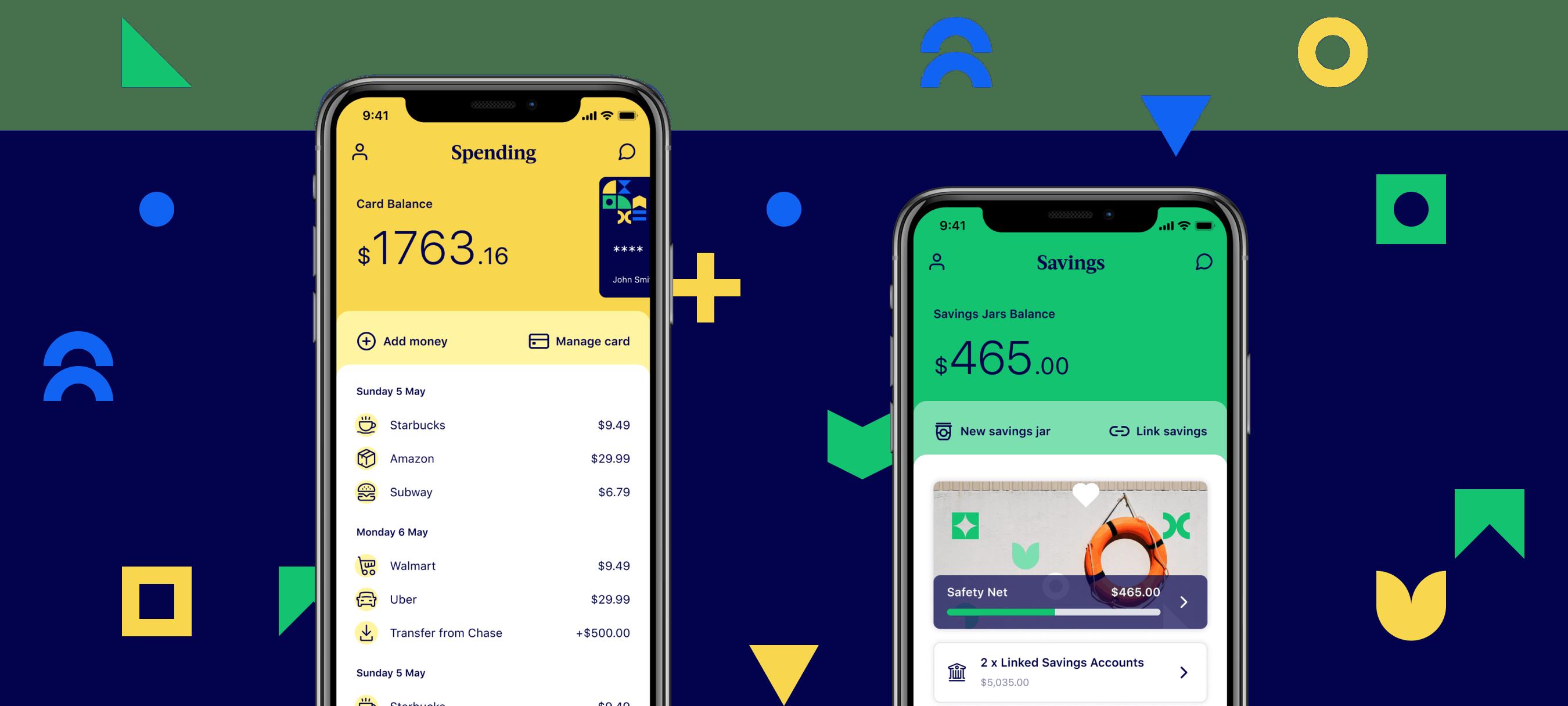 Grab mobile app card screen