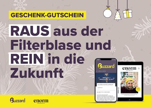 Buzzard Geschenk-Guschein Vorderseite