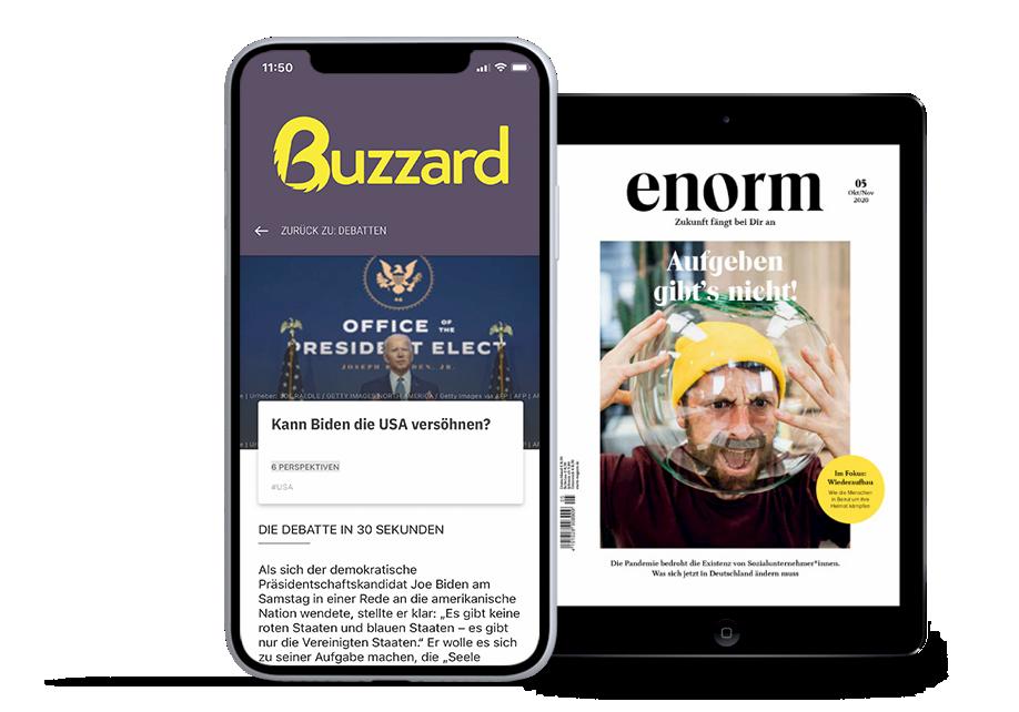 Buzzard und das Enorm Magazin