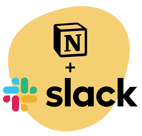 Notion and slack logos