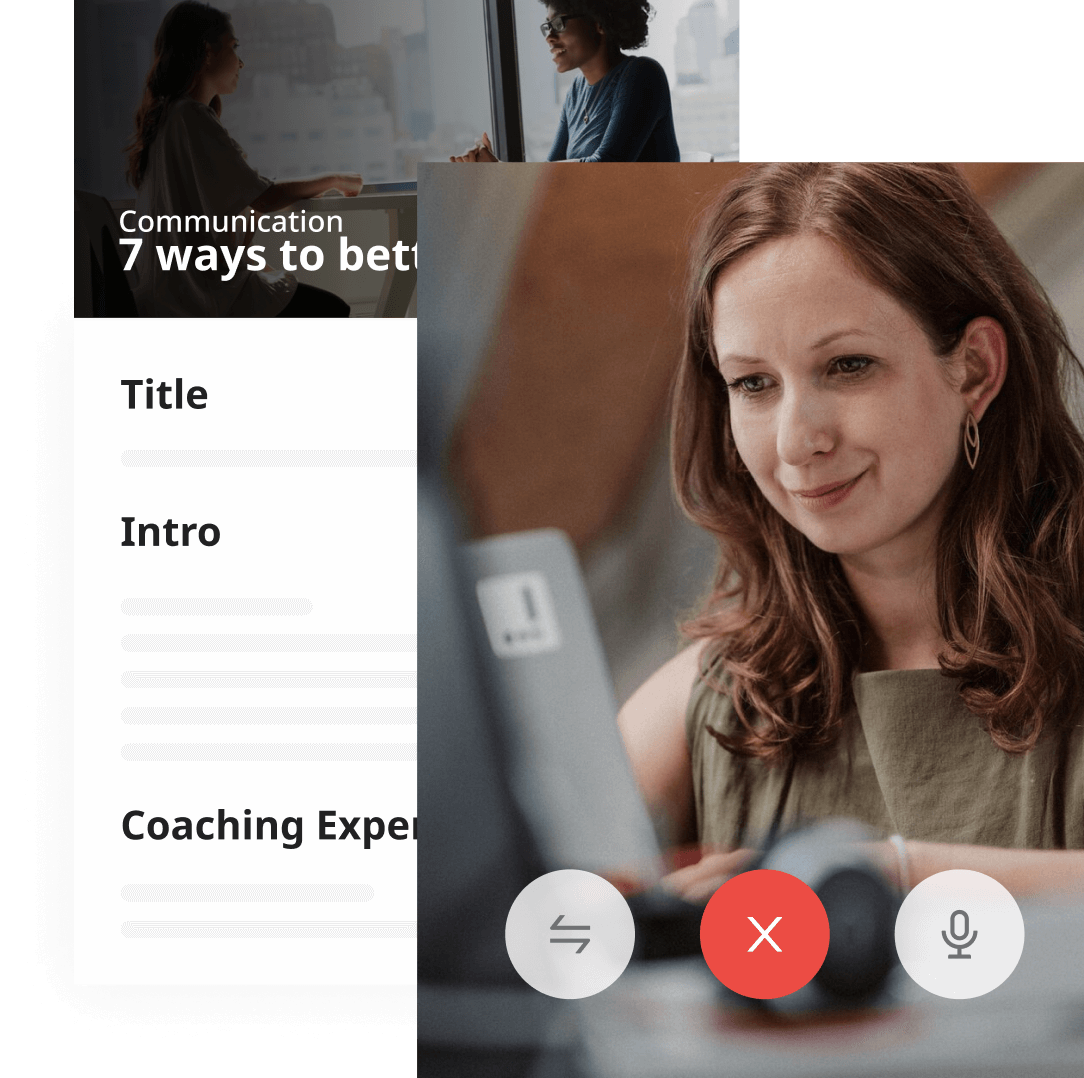 Video coaching to adapt the program to every learner