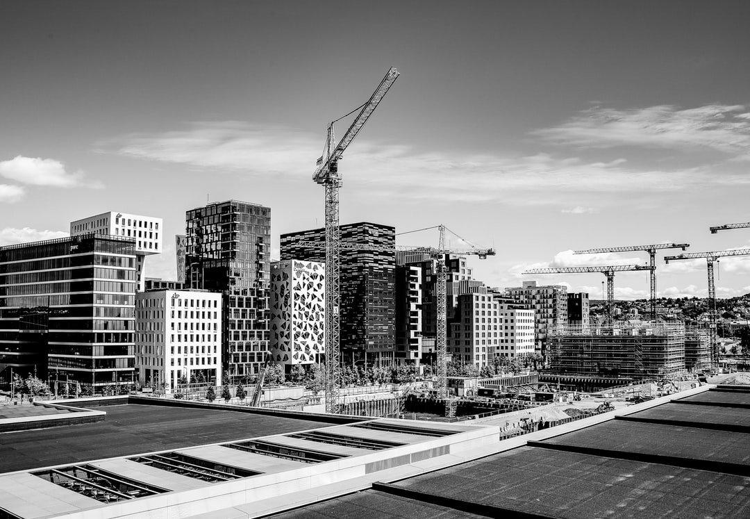 Stuttgart 21 im Bau in schwarz weiß