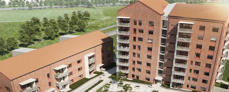56 lägenheter på Kyrkbytorget