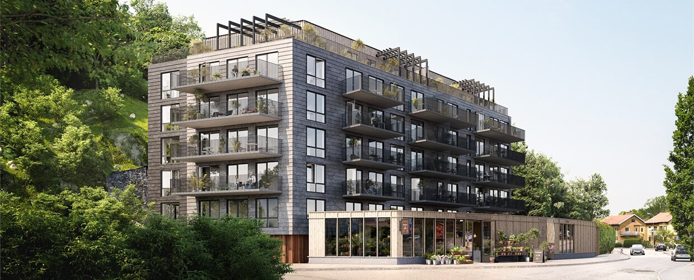 Arkitektritade bostäder i Långedrag