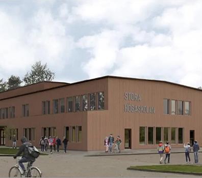 Om- och tillbyggnad av Stora Högaskolan