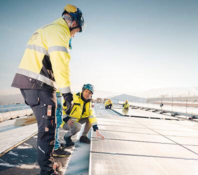 En av Sveriges största solcellsanläggningar