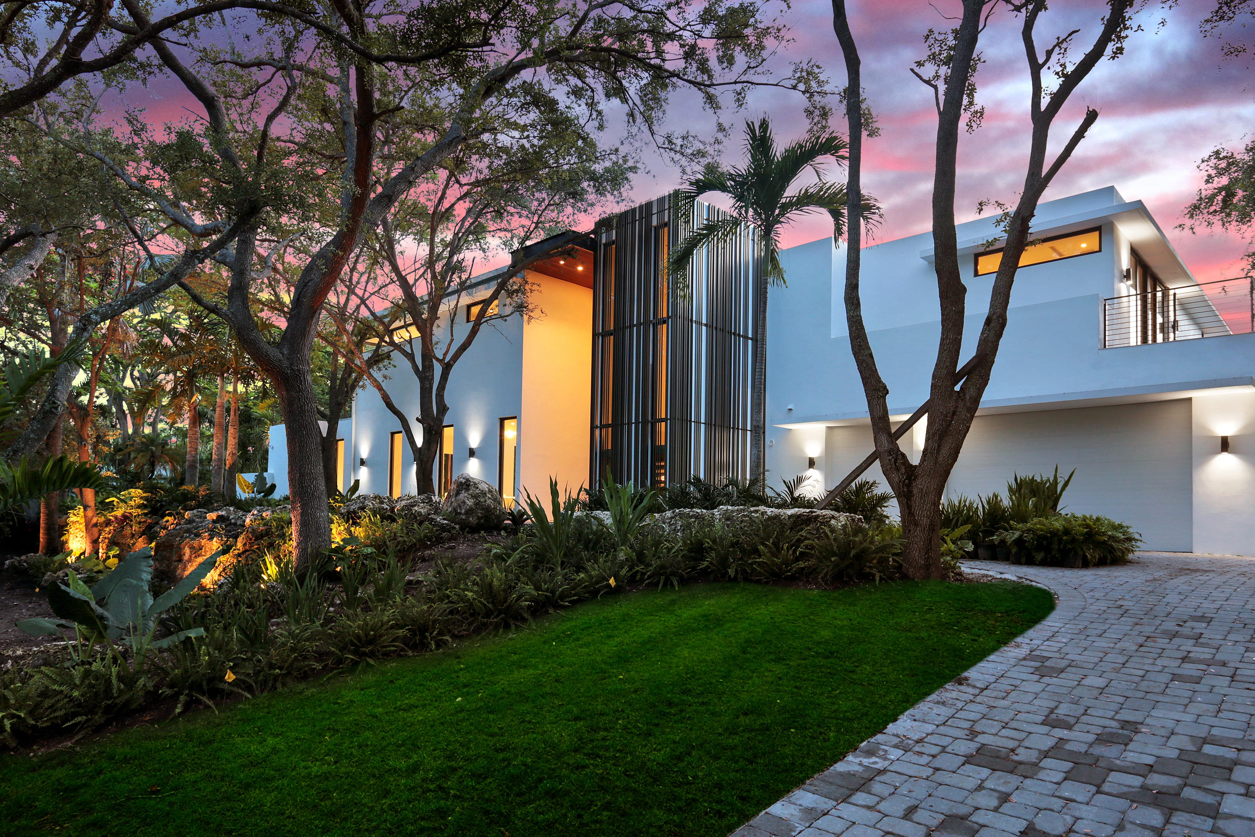 A modern luxury mansion