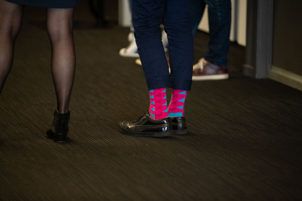 Showing off some cool UX New Zealand socks