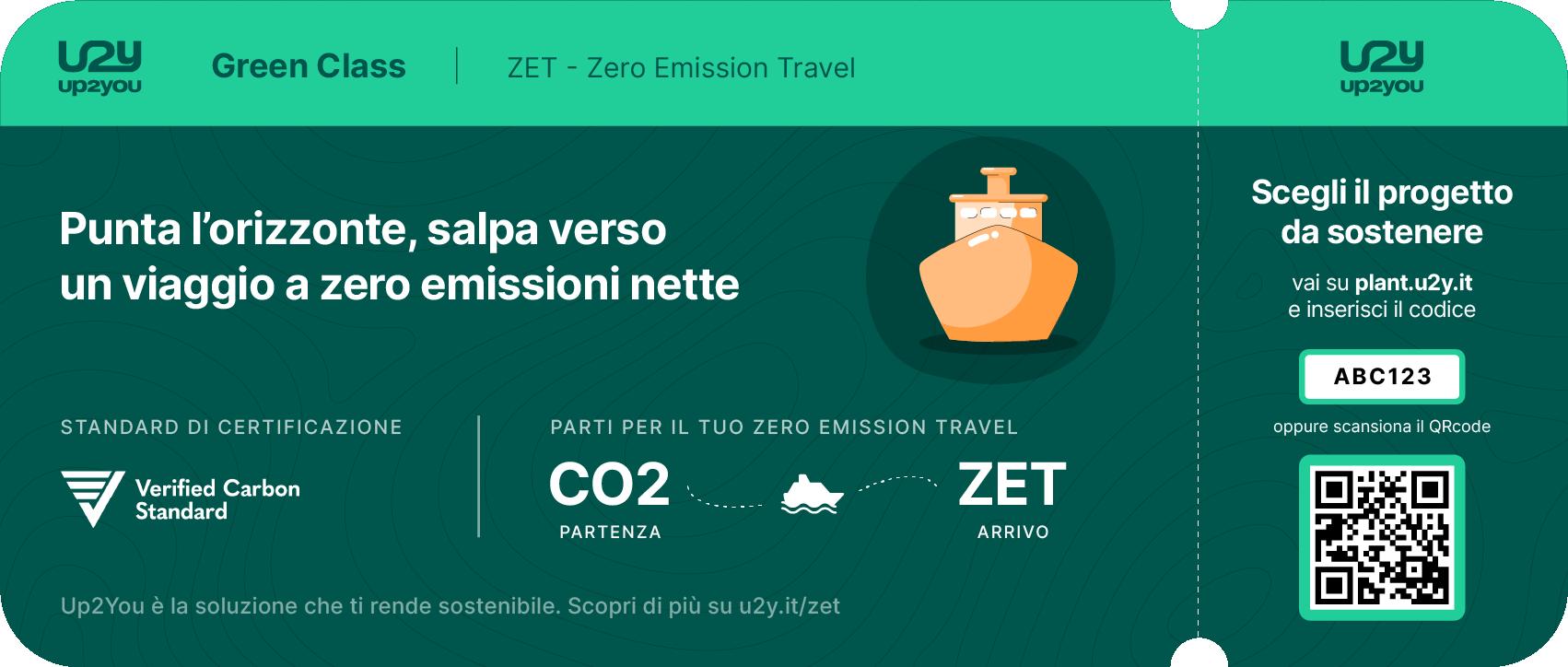Boarding pass crociera per azzerare le emissioni nette di viaggio e soggiorno