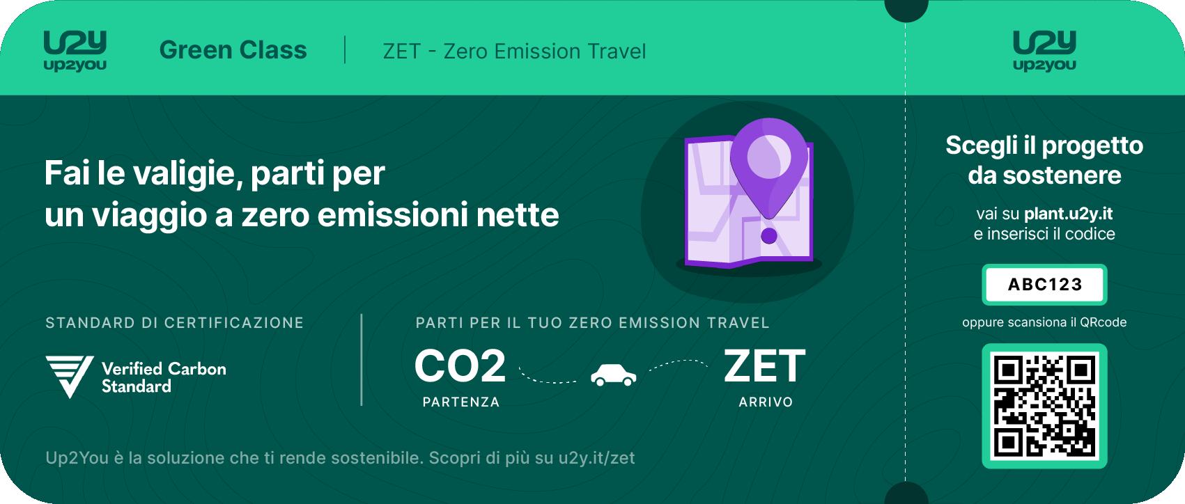 Boarding pass per azzerare le emissioni nette di viaggio e soggiorno