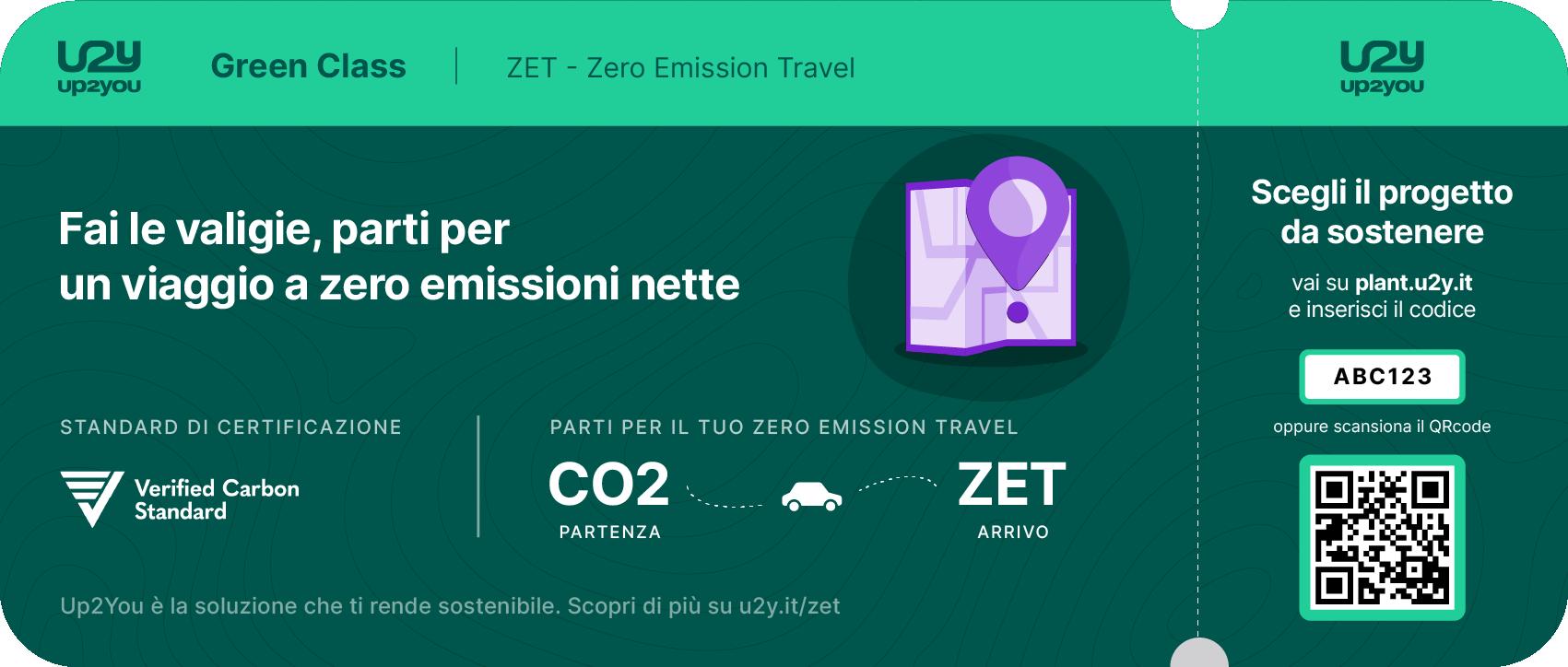 Boarding pass generico per azzerare le emissioni nette di viaggio di breve tratta e soggiorno