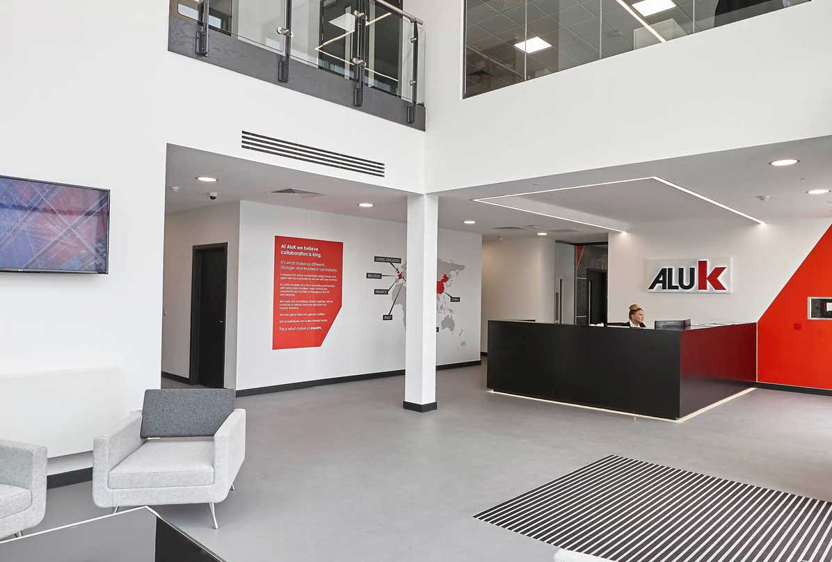 The AluK HQ reception in Cheptow
