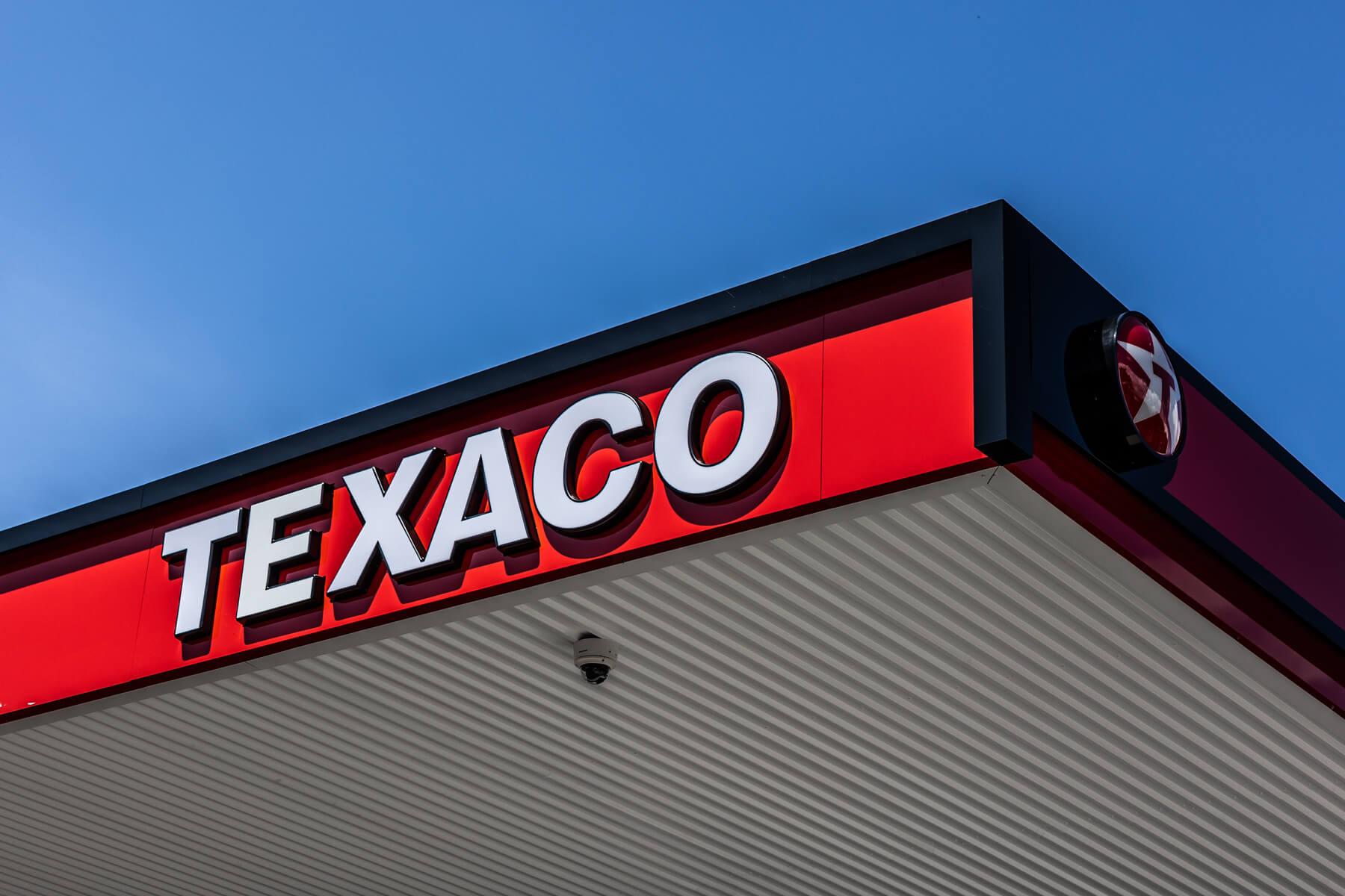Texaco fuel at Ascona