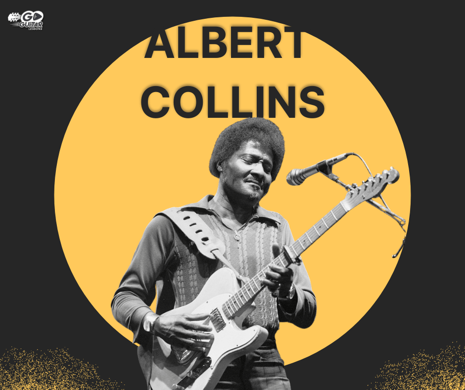 Albert Collins playing the guitar