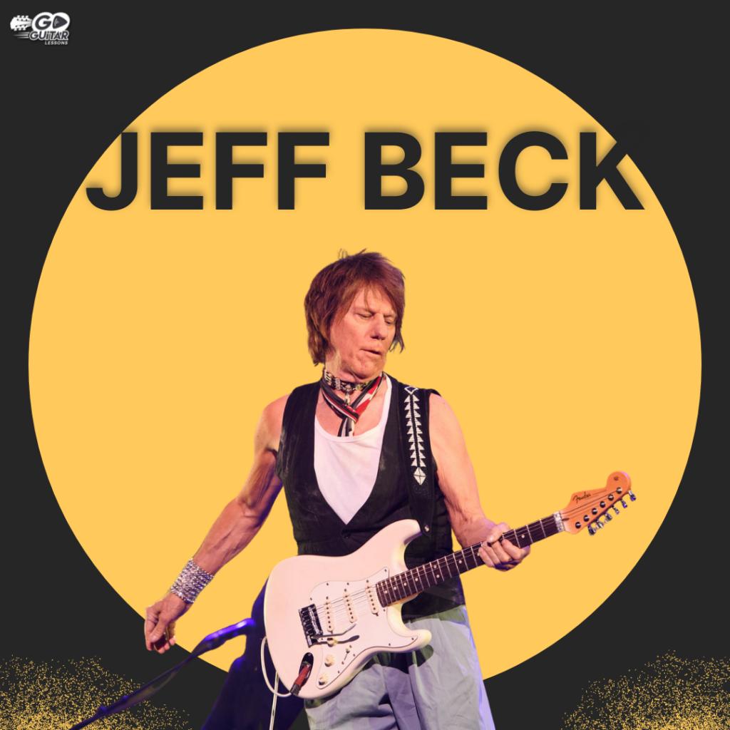 Jeff Beck playing a bass