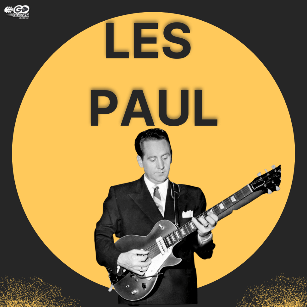 Les Paul playing the bass