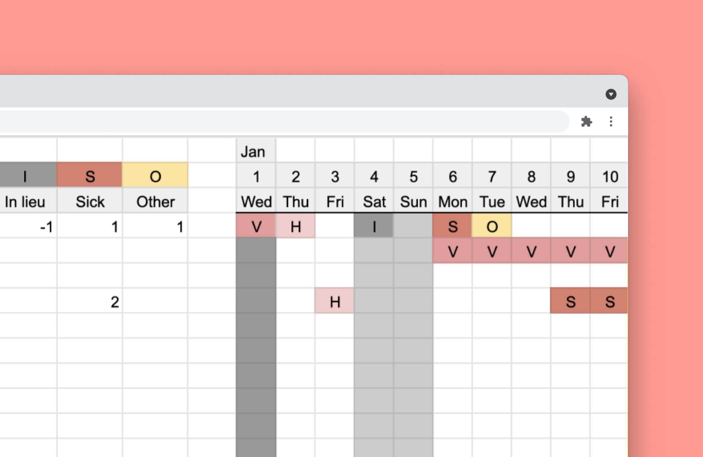 Simple free vacation tracker for 2020