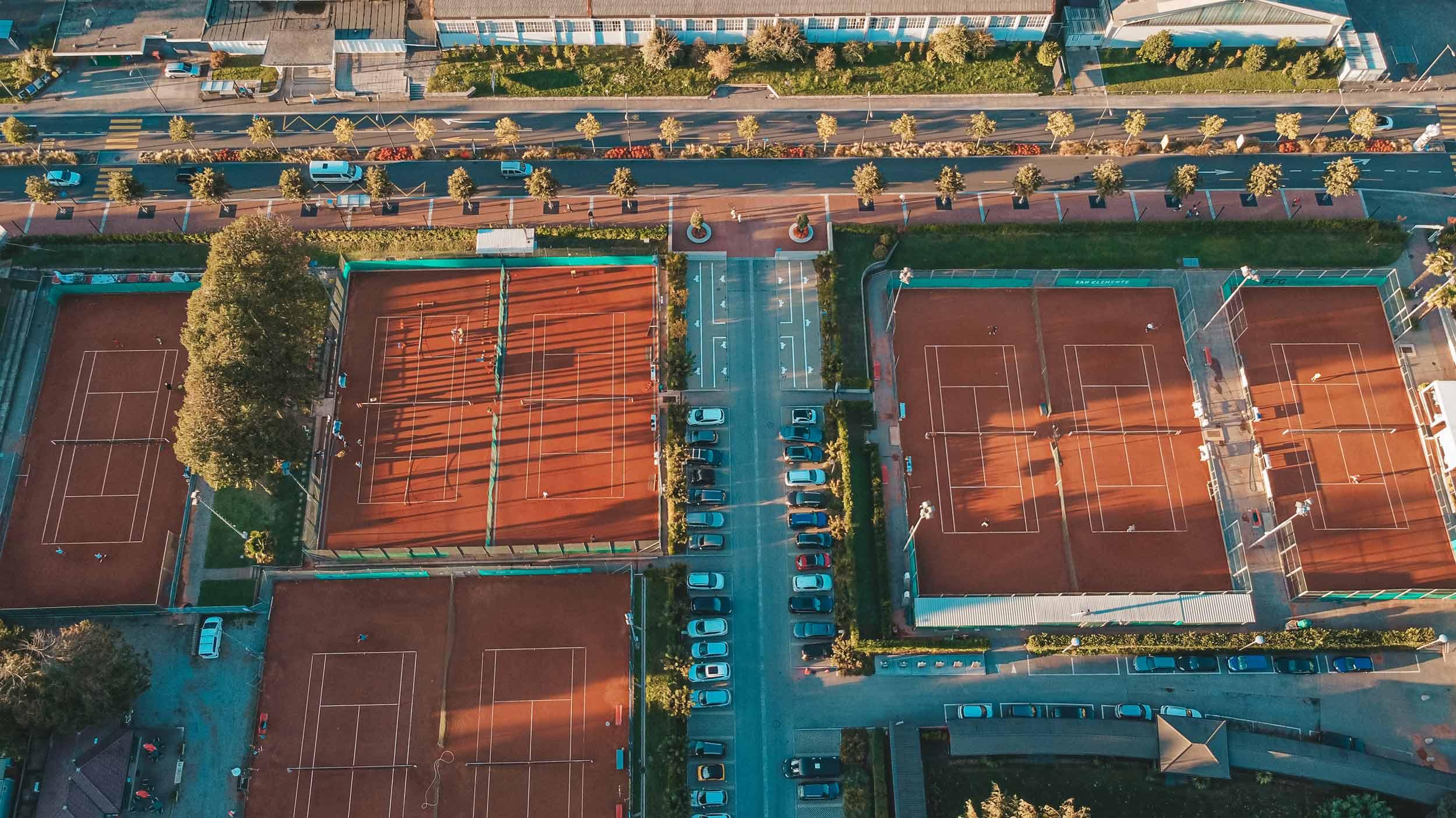 Tennis Club visto dall'alto