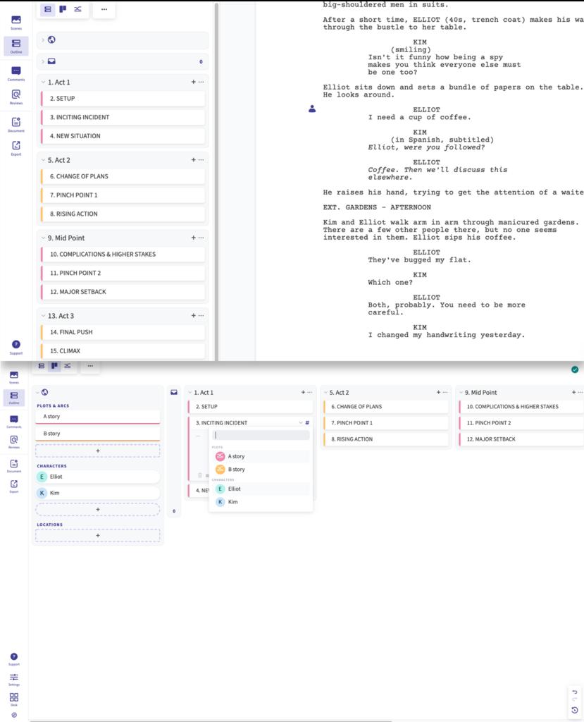 arc studio pro outline features