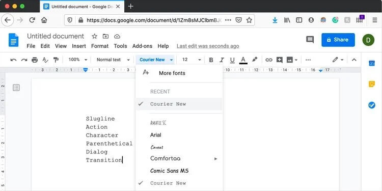 Free Screenplay Template for Microsoft Word and Google Docs