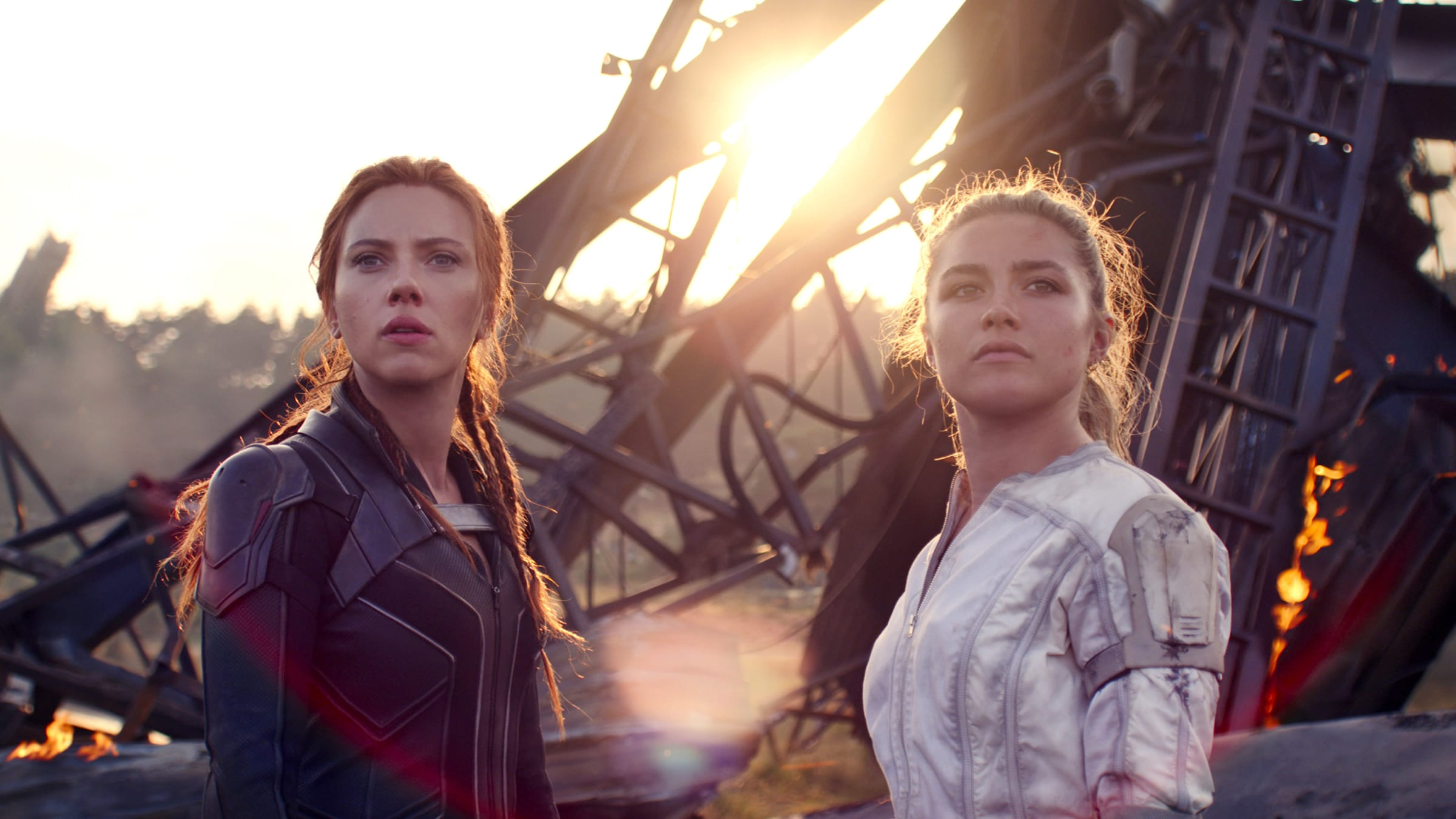 Black Widow's personal journey throughout the film is an example of story.