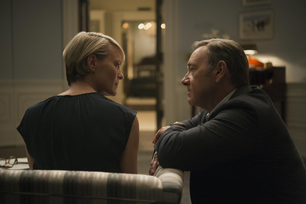 Frank Underwood delivering his first direct address to camera about the two types of pain in House of Cards.